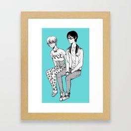Rei/Nagisa Framed Art Print