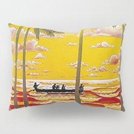 Surf Hawaii, Outrigger, Hawaiian Sunset Portrait Pillow Sham