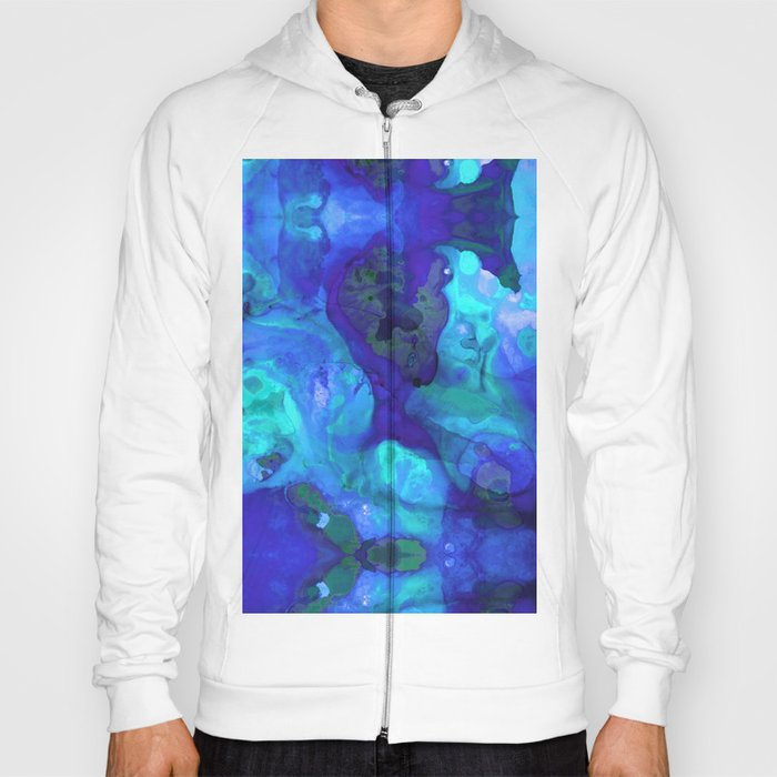 Violet Blue - Abstract Art By Sharon Cummings Hoody