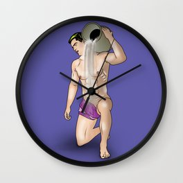 male nude art comics   ,aquarius Wall Clock