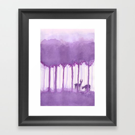 a forest Framed Art Print