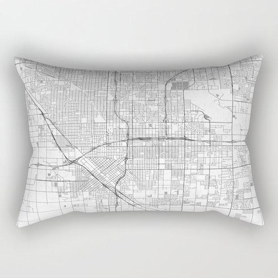 Fresno Map Line Rectangular Pillow