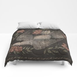 Dove and Flowers Comforters