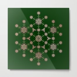 molecule of life. sacred geometry. alien crop circle Metal Print