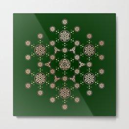 molecule of life. sacred geometry. alien crop circle Metal Print