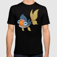 Goldfish in Shark Costume Black MEDIUM Mens Fitted Tee