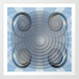Lynch Concentric Circles Art Print