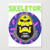 skeletor Canvas Prints featuring Skeletor by Michael Keene