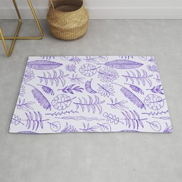 Purple Watercolor Garden Rug