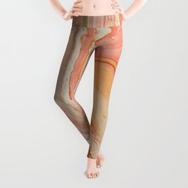 Marbled paper Leggings