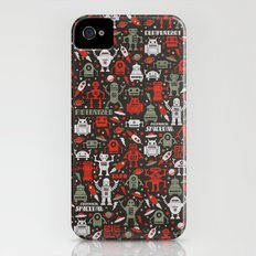 Vintage Robots iPhone (4, 4s) Slim Case
