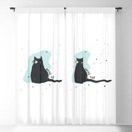 Weird cat Blackout Curtain