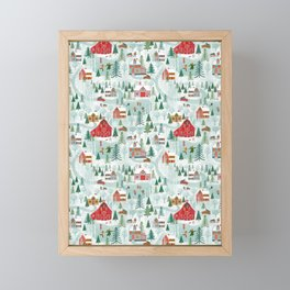 New England Village (pattern) Framed Mini Art Print