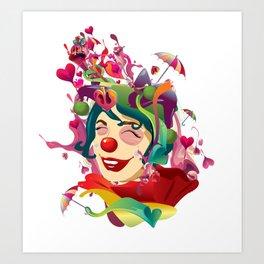 happines is not always feeling happy Art Print