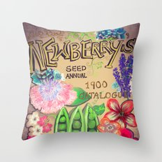 Newberry's Seed Catalogue Throw Pillow