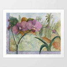 Velvet Cactus Art Print