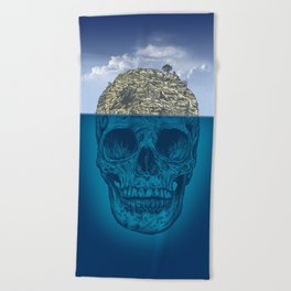 Skull Island Beach Towel