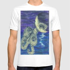Noctopus White Mens Fitted Tee MEDIUM