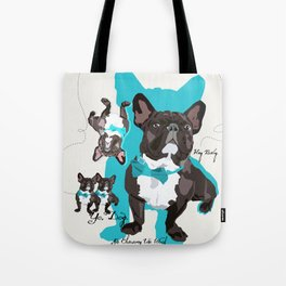 Chauncey Loves You - French Bulldog Tote Bag