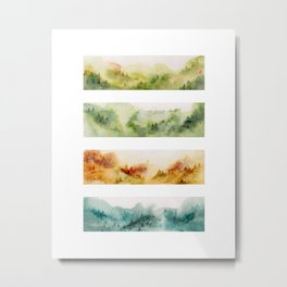 Watercolor seasons Metal Print