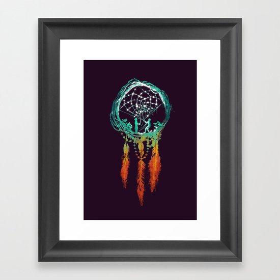 Dream Catcher (the rustic magic) Framed Art Print