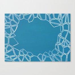 Fractal Glacier Negative Space Canvas Print