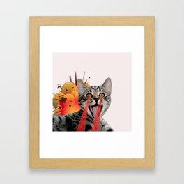 CAT ATTACK! Framed Art Print