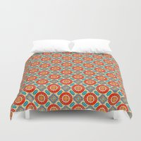 persian Duvet Covers featuring Persian Seal by Peter Gross