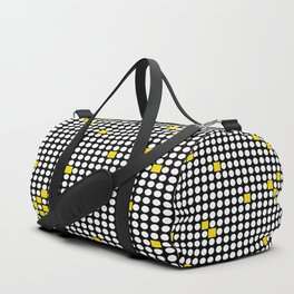 Halftone with Yellow Squares Duffle Bag