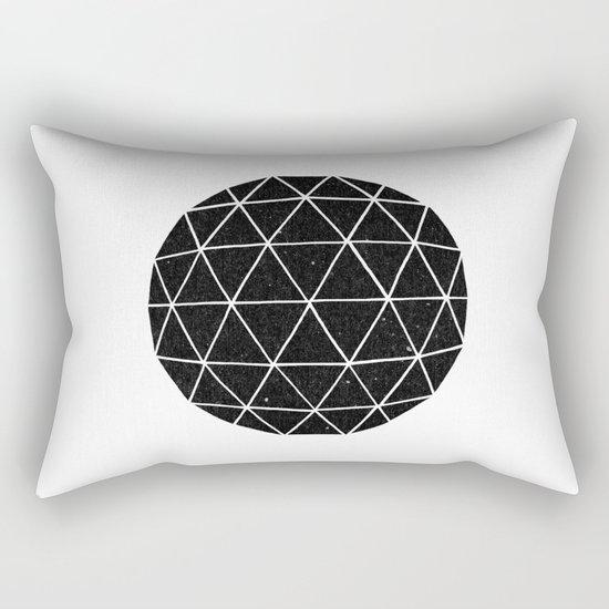 Dark Geodesic Rectangular Pillow