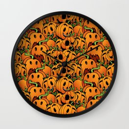 Pumpkin Mania Wall Clock