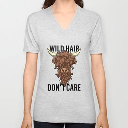 Wild Hair Don't Care Hipster Hairstyles Gift Unisex V-Neck
