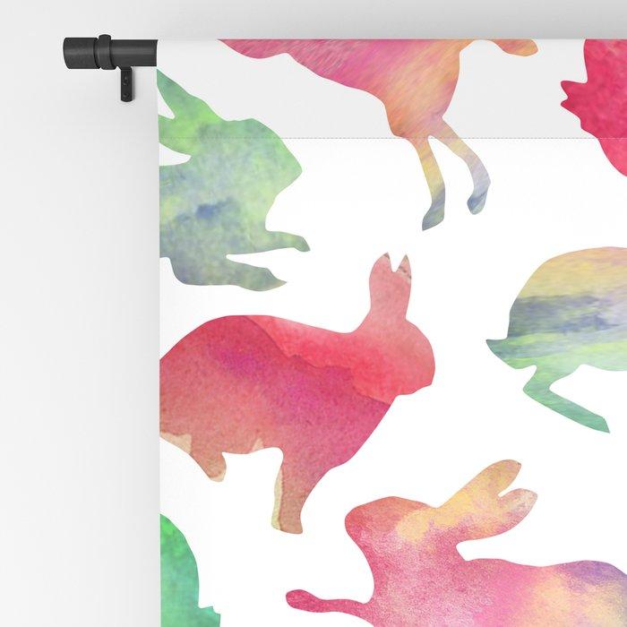 Watercolour Bunnies Blackout Curtain