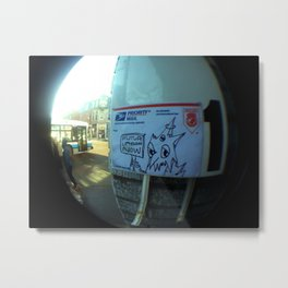 hand drawn Priority mail sticker on Boulevard St Laurent Metal Print