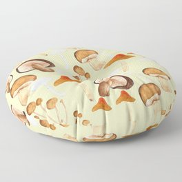 mushroom pattern watercolor painting Floor Pillow