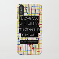 springsteen iPhone & iPod Cases featuring i'll love you with all the madness in my soul- bruce springsteen by MisfitIsle