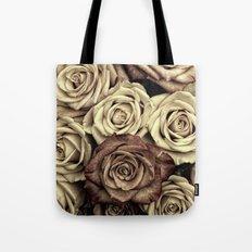 Brown Roses Tote Bag