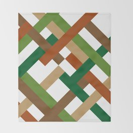"Geometric Print ""Broken Weave"" Throw Blanket"
