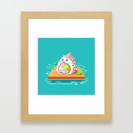 sailing sushi and 'sabi sidekick Framed Art Print