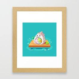 sailing sushi and 'sabi sidekick Framed Art Print