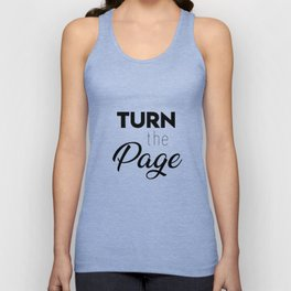 Turn the page Unisex Tank Top