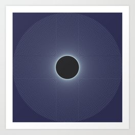 Stephen Hawking: Event Horizon Art Print