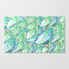 Budgies Canvas Print