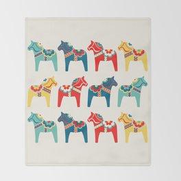 Swedish Horses Throw Blanket