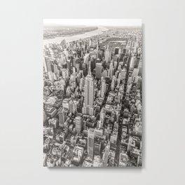New York City Grey Metal Print