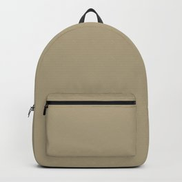 Dried Herbs - Khaki Single Solid Color Accent Shade Matches Sherwin Williams Garden Sage SW 7736 Backpack