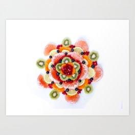 """What the Fruit"" Mandala Art Print"