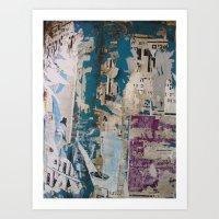 Desert Town Postings IIII Art Print