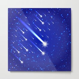Space background with stars and comets Metal Print