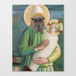 Spider with Christ Child Canvas Print